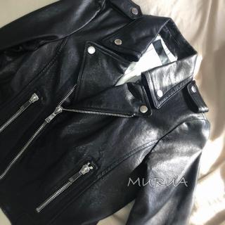 ムルーア(MURUA)のラムレザーライダース(ライダースジャケット)