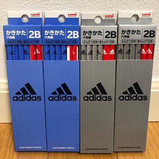 トンボエンピツ(トンボ鉛筆)の三菱鉛筆♡2B&赤鉛筆 4ダース48本 アディダス(その他)