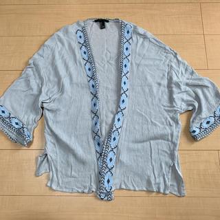 フォーエバートゥエンティーワン(FOREVER 21)のforever21 刺繍 カーディガン(カーディガン)