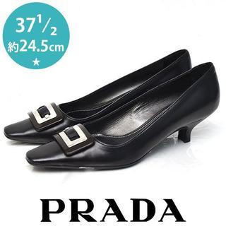 PRADA - 美品❤️プラダ バックル パンプス 37 1/2(約24.5cm)