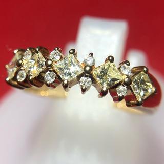 リング ダイヤモンド イエロー 指輪 k18yg イエローゴールド(リング(指輪))