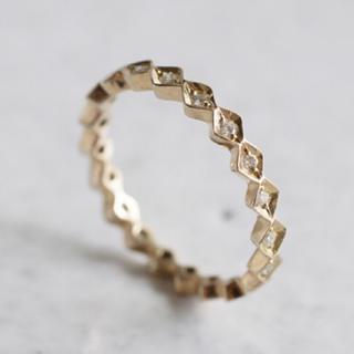 アガット(agete)の新品 Atelier Simo フルエタニティダイヤモンドリング 9号 K10(リング(指輪))