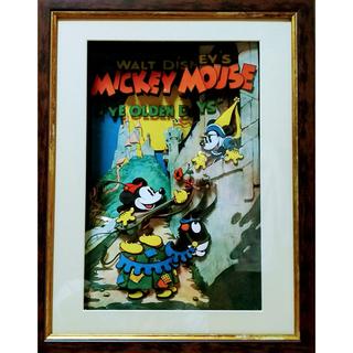 ディズニー(Disney)のシャドーボックス完成品 (ミッキーマウス・YE OLDEN DAYS)(アート/写真)