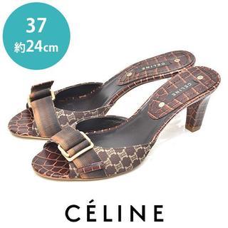 celine - 美品❤️セリーヌ ベルト 型押し サンダル 37(約24cm)