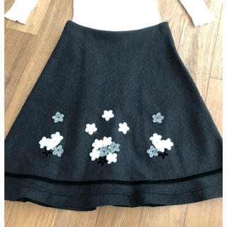 M'S GRACY - エムズグレーシー(6)花柄スカート ブラック 40サイズ 美品