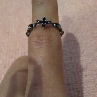 シルバー925 クロスオニキス リング13号(リング(指輪))