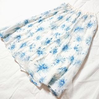 ページボーイ(PAGEBOY)の膝丈 花柄スカート(ひざ丈スカート)