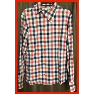 Vivienne Westwood - 試着のみ Vivienne Westwood MAN  襟アシメ チェックシャツ