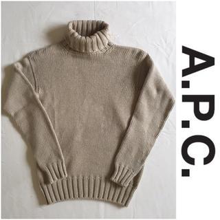 A.P.C - 希少 スコットランド製 アーペーセー コットン タートルネックセーター S