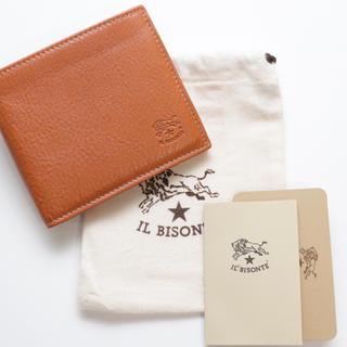 IL BISONTE - 新品 イルビゾンテ 二つ折り財布 札入れ コインケース 人気 ヤキヌメ キャメル