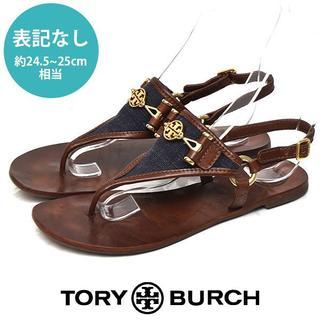 Tory Burch - トリーバーチ ロゴ トングサンダル 表記なし(約24.5-25cm相当)