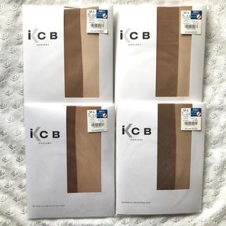 アイシービー(ICB)のICB パンティストッキング 4足 セット 濃いめ ベージュ アツギ パンスト(タイツ/ストッキング)