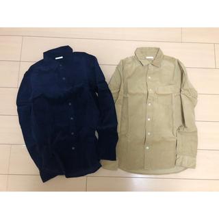 GU - ジーユー コーデュロイ シャツ メンズ S  2枚セット