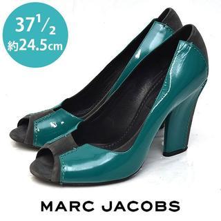 マークジェイコブス(MARC JACOBS)のマークジェイコブス オープントゥ バイカラー パンプス 37 1/2(約24.5(ハイヒール/パンプス)