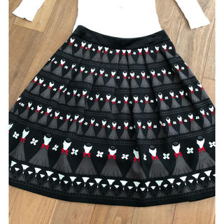 M'S GRACY - エムズグレーシー(10)ワンピース柄スカート  ブラック 38サイズ   美品