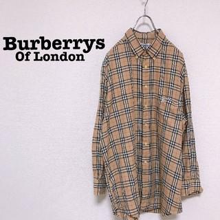 BURBERRY - 90s Burberrysノバチェック 長袖シャツ L