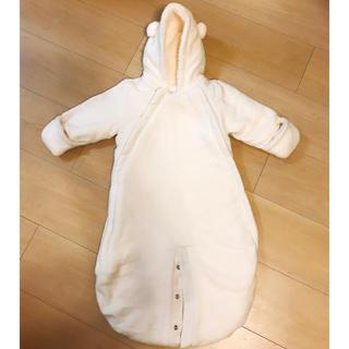 babyGAP - あったかクマ耳ロンパース baby GAPカバーオール アウター オフホワイト