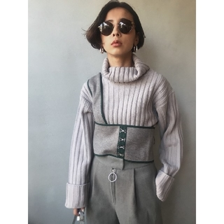 Ameri VINTAGE - アメリヴィンテージ BUSTIER LAYERED KNIT