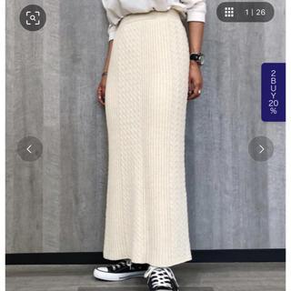 ページボーイ(PAGEBOY)のリブケーブルスカート💗ページボーイ(ひざ丈スカート)