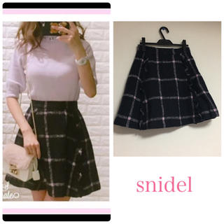 snidel - 正規品★スナイデル チェック ウール スカート