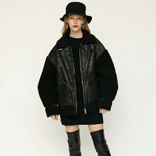 SLY -  SLY♡OVER SIZE B-3♡ブラック♡ボアジャケット♡