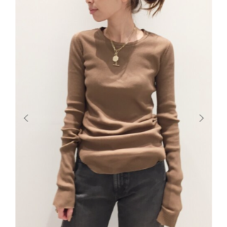 L'Appartement DEUXIEME CLASSE - GOOD GRIEF グッド・グリーフ RIB L/S TOP ブラウン