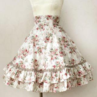 ヴィクトリアンメイデン(Victorian maiden)の Victorian maidenロココブーケバッスルスカート(ひざ丈スカート)