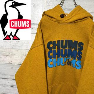 CHUMS - 【レア】チャムス CHUMS☆ビッグロゴ ロゴタグ 裏起毛 パーカー