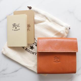IL BISONTE - 新品 イルビゾンテ 二つ折り 財布 ヌメ革 折財布 ミニ財布 小銭入れ ヤキヌメ