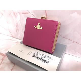 二つ折りピンクがま口財布❤️ヴィヴィアンウエストウッド❤️新品・未使用