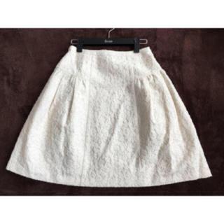 TOCCA - ★美品★TOCCA★フラワー刺繍 スカート★2★ホワイト★