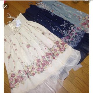 axes femme - axes 花×蝶 ワンピース スカート