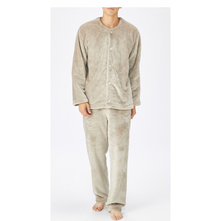 MUJI (無印良品) - 無印良品 着る毛布 パジャマ 紳士M・ライトベージュ