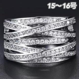 SWAROVSKI - ★定価7580円★【SWAROVSKI】15~16号 クリスタル ジェム 指輪