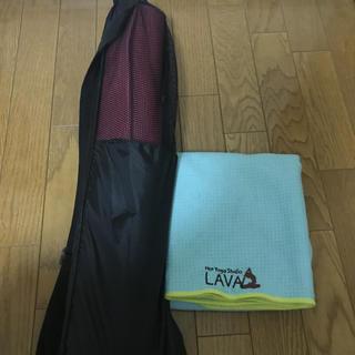 LAVA ヨガマット、ラグ、袋のセット