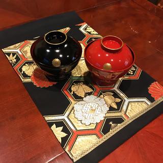 超美品 テーブルセンター 黒亀甲 帯リメイク おもてなし プレゼントに