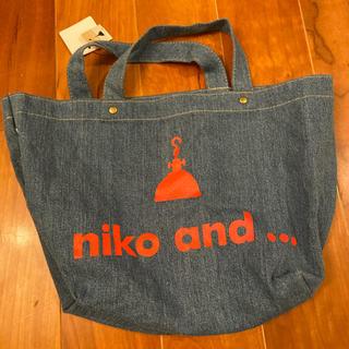 ニコアンド(niko and...)のnico&...未使用ジーンズ生地バッグ☆(トートバッグ)