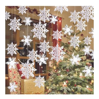 クリスマス オーナメント 雪 飾り(インテリア雑貨)