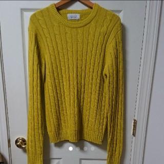 ウィゴー(WEGO)のWEGO ニット セーター BROWNY 黄色 イエロー M 最安値 送料無料(ニット/セーター)