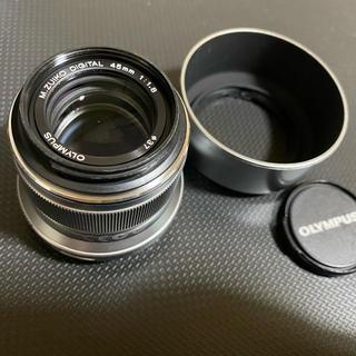 オリンパス(OLYMPUS)のOLYMPUS M.ZUIKO DIGITAL 45mm F1.8 シルバー(レンズ(単焦点))