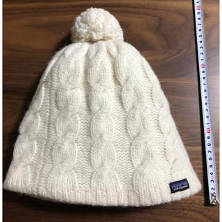 パタゴニア(patagonia)のパタゴニア patagonia ニット帽 ホワイト ウール100% レディース (ニット帽/ビーニー)