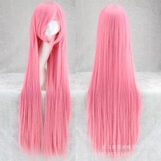 ♡ピンク♡ ウィッグ 主にコスプレ用 ストレート ロング 100cm(ロングストレート)