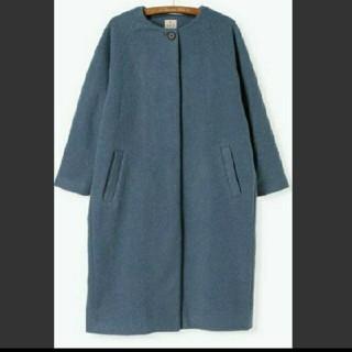 サマンサモスモス(SM2)のノーカラーコート ブルー(ロングコート)