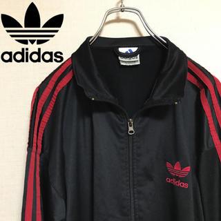 adidas - adidas  アディダス  ジャージ 黒 赤