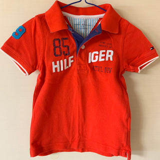 トミーヒルフィガー(TOMMY HILFIGER)のトミーヒルフィガー ポロシャツ 赤 子供用(シャツ/カットソー)