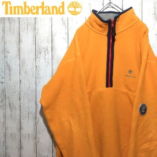 Timberland - 【激レア】ティンバーランド☆ワンポイント刺繍ロゴ入りハーフジップフリース