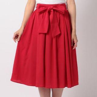 MISCH MASCH - 【新品タグ付き】ナインカラーベーシックミモレ丈スカート赤 MEW'S