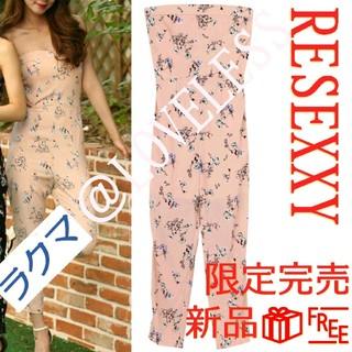 リゼクシー(RESEXXY)の限定RESEXXY リゼクシー 花柄 コンビネゾン オールインワン ピンク(オールインワン)