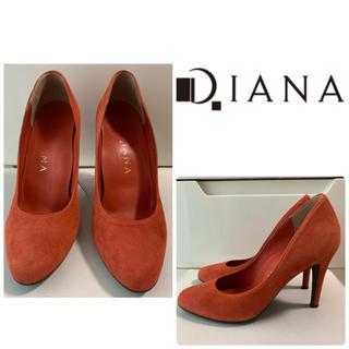 DIANA - ダイアナ オレンジスエード パンプス