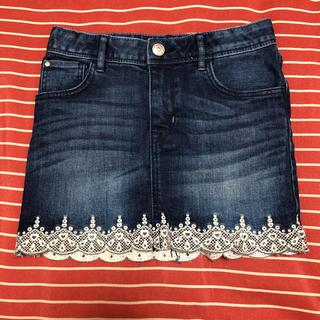 エイチアンドエム(H&M)のデニム スカート 130センチ H&M(スカート)